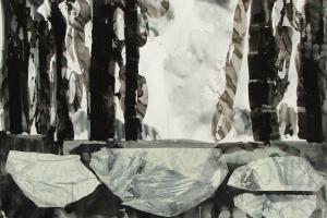Mischtechnik auf Papier     107x150 cm     2011