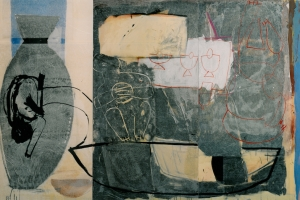 Mischtechnik auf Leinwand     150x240 cm     1993