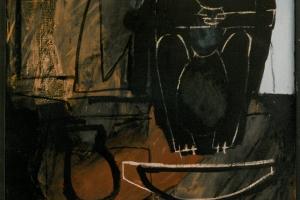 Mischtechnik auf Leinwand     62x86 cm     1992